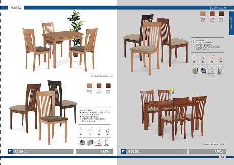 Jídelní židle a stoly Artium