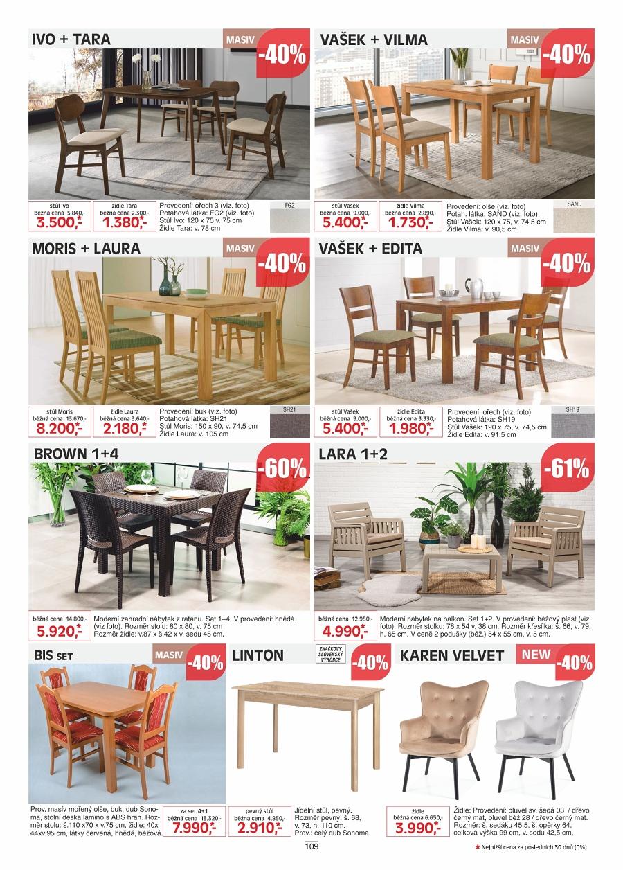 Jíselní stoly a židle Kasvo nábytek