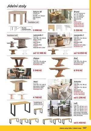 Jídelní stoly a židle nábytek Orfa