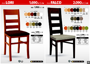 Jídelní židle a stoly